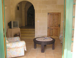 sitting room at ta natu farmhouse gozo