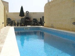 Swimming pool at ta natu farmhouse gozo