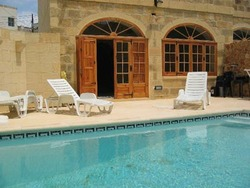 Swimming pool at ta mananni farmhouse gozo