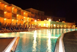 Paradise Bay Hotel Outdoor pool by night