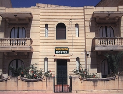 Facade of the Santa Martha hostel