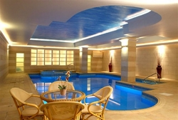 Indoor Pool and Jacuzzi of the solana hotel.j