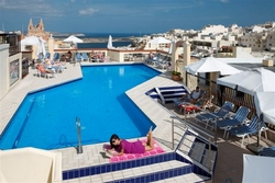 outdoor Pool and views of the solana hotel