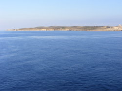 The sea and Comino in the background
