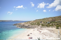 beach of Hondoq Bay Gozo