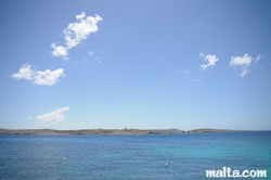 blue sea at Hondoq Bay Gozo