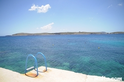 stairs in Hondoq Bay Gozo