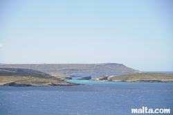 view from Hondoq Bay Gozo