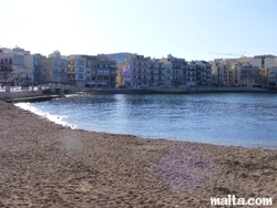 Marsalforn's sandy beach