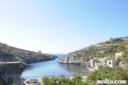 Mgarr Ix-xini Bay from the hill