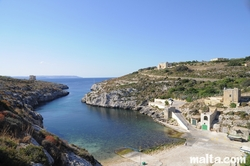 Mgarr Ix-xini Bay from the side hill