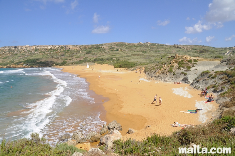 Gozo Malta  city photos : ... Hamra is a beautiful sandy beach in Gozo with fantastic reddish sand