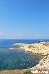 The beach near Mgarr