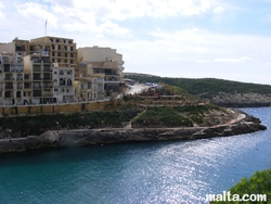 Xlendi road and sea