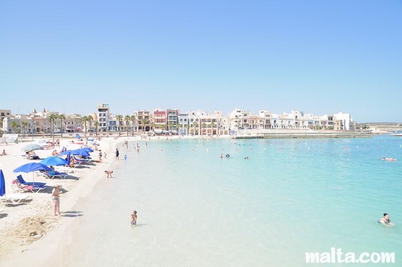 Pretty Bay Sandy Beach In South Malta
