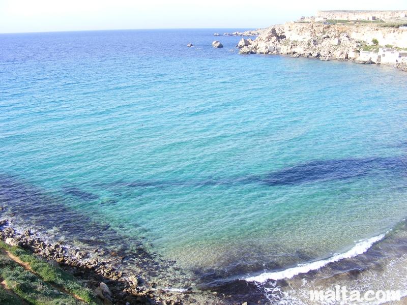 Lifeguard chair with umbrella - Golden Bay Sandy Beach In Malta