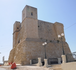 The Wignacourt Tower in Bugibba