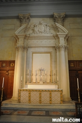 altar in St Paul Anglican Church Valletta