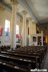 nave and isle of St Paul Anglican Church Valletta