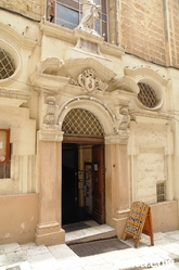entrance of  St Paul Shipwreck Church in Valletta