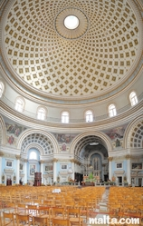 Large view of the Rotunda and body of the Mosta Dome