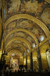 golden nave in St. john's cathedral valletta