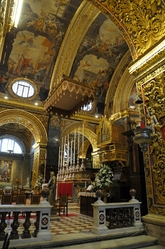 perspective on main altar in St. john's cathedral valletta