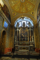 side altar in St. john's cathedral valletta