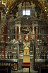 side altar with gate in St. john's cathedral valletta