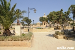 main square of Gardjola Gardens Senglea