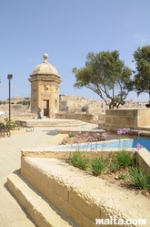 stairs and guardjola in the Gardjola Gardens Senglea
