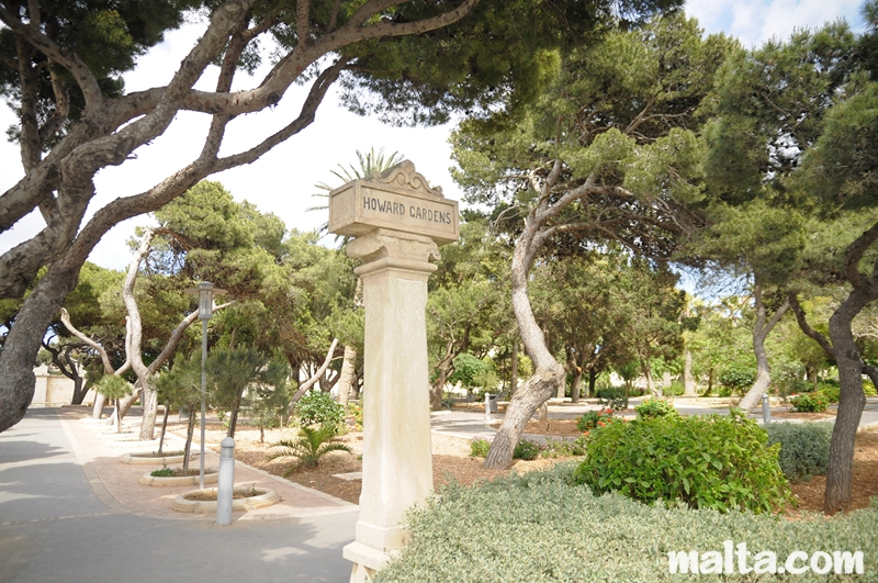 Entrance to the howard gardens in rabat