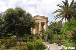 temple monument in the Lower Barrakka Gardens