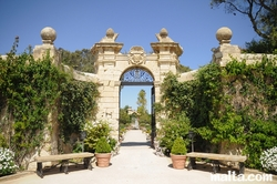 gate to the palazzo parisio garden