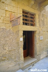 Entrance to the natural  natural history victoria gozo