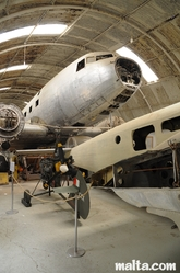 Big plain wreck in the Malta Aviation Museum
