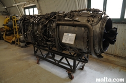 Jet engine in the Malta Aviation Museum