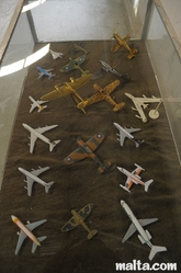 Mini plains collection in the Malta Aviation Museum