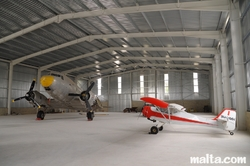 Two planes in the Malta Aviation Museum