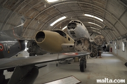 Wreck planes in the Malta Aviation Museum