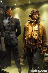 uniforms at the  war museum valletta