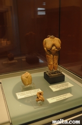 female statuettes at the National Museum of Archaeology