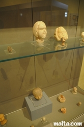 limestone heads at the National Museum of Archaeology