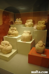 sitting fat ladies at the National Museum of Archaeology