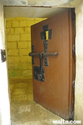 cell door át the old prison museum in Gozo
