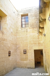 courtyard of  the old prison museum in Gozo
