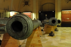 cannon mouth in the palace armoury in valletta
