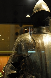 engraved armour in the palace armoury in valletta