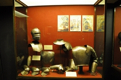 pieces of armours at the palace armoury in valletta