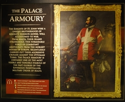 the palace armoury entrance sign